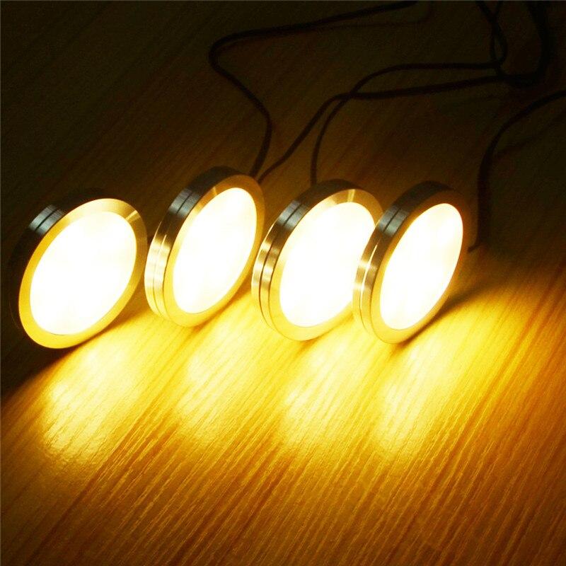 AIBOO LED Unter Schrank Beleuchtung 4 stücke LED Puck Llights mit ...