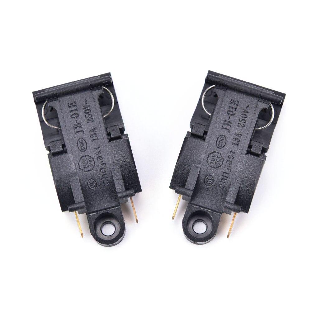Yüksek kalite 2 adet siyah 13A anahtarı elektrikli su ısıtıcısı termostat anahtarı buhar orta mutfak parçaları aksesuarları