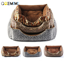 New Arrival Dog Soft Bed Leopard Fashion Pet Kennel Removeable Pillow Puppy Warm sofa High Quality Products