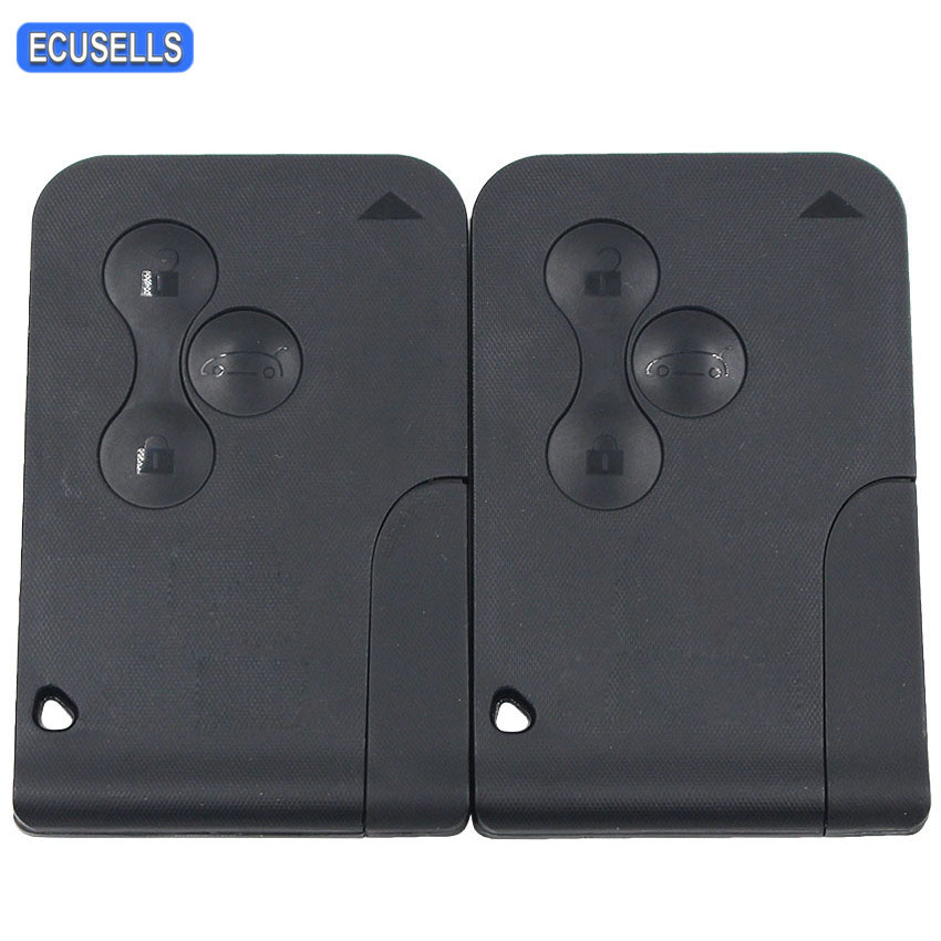 2 Pcs Lot 3 Button Remote Car Key 434Mhz ID46 PCF7947 Chip for Renault Megane Scenic