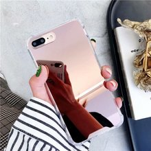 Soft Silicone TPU Airbag Shockproof Case For iPhone 6 XS MAX XR 8 7 6S plus X Phone Case Luxury Plating Mirror Back Cover Coque luxury phone case for iphone x xr xs max cover armor shockproof plating tpu pc glass mirror back cover for iphone xr xs max case