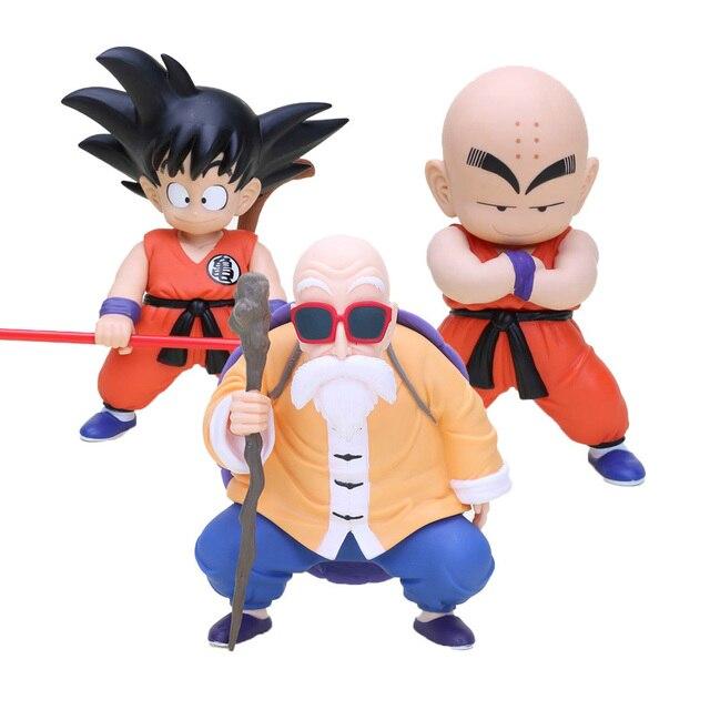 Dragon Ball Z Figuras de Ação Goku Kuririn Figura Coleção de Brinquedos Dragonball Modelo Boneca de Presente Para O Miúdo Crianças Aniversário