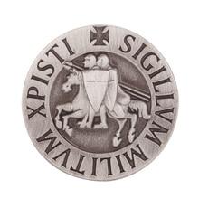 Knights Templar Seal Crusaders Solomons Temple Lapel Pin