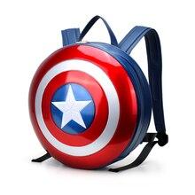 Heißer Verkauf Harte Oberfläche männer Rucksack Captain America Modische Laptop Frauen Rucksack Pu-leder Schultasche