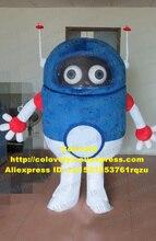 블루 로봇 Automaton 마스코트 의상 성인 만화 캐릭터 복장 멋진 복장 개회식 무역 전시회 zz4510