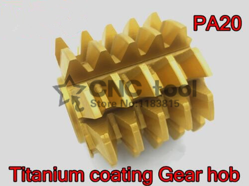 M2 Modulus 55*50*22mm Inner Hole PA 20 Degrees HSS Titanium Coating Gear Hob Gear Cutting Tools Free Shipping