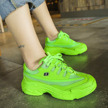 Chunky Sneakers Women Vulcanize Shoes Bright Candy Color Casual Shoes