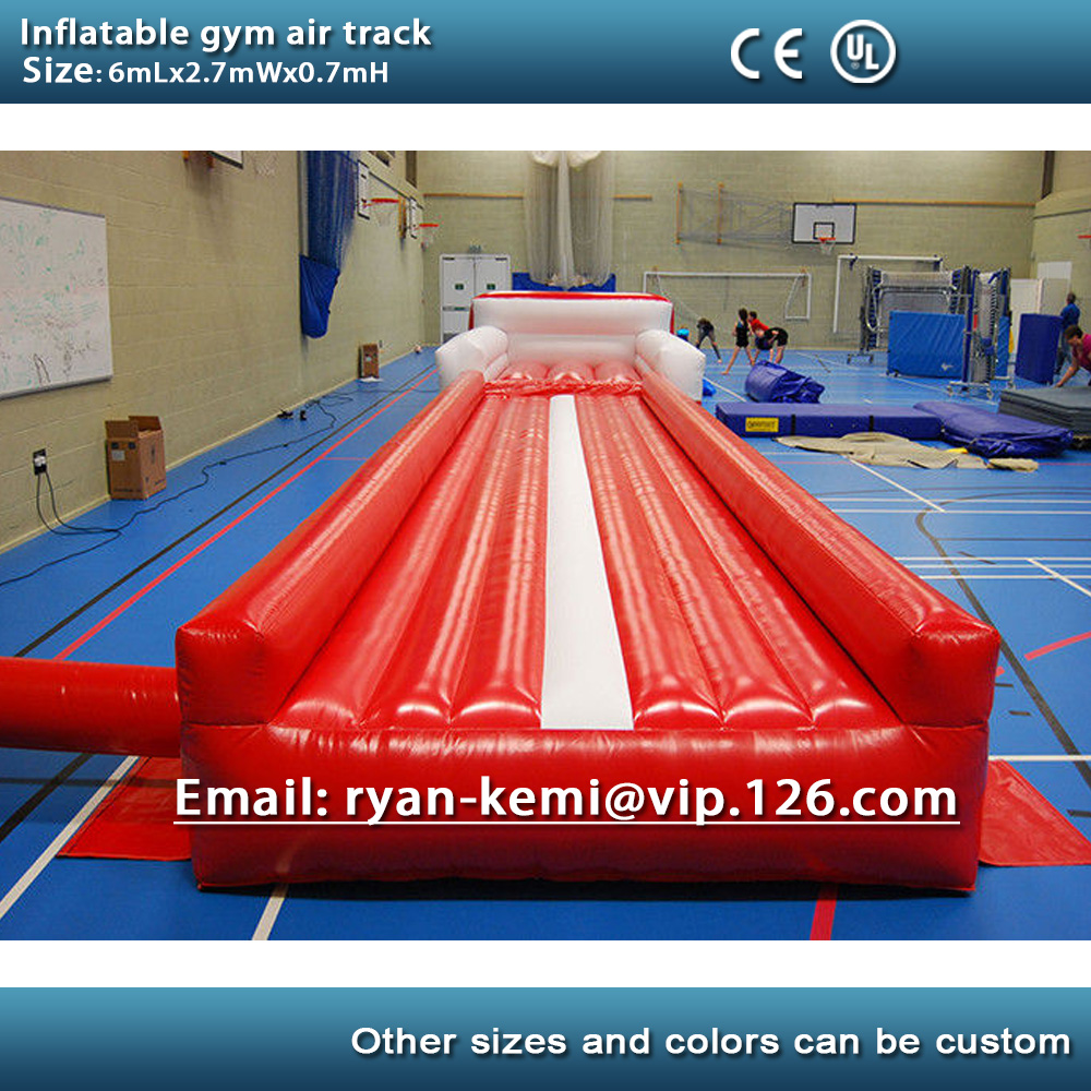 free shipping 6m 20ft inflatable air track inflatable tumble track gymnastics inflatable air mat. Black Bedroom Furniture Sets. Home Design Ideas