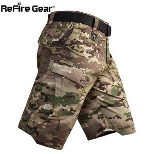 Image 4 - Refire engrenagem camo exército tático dos homens calças curtas combate militar multi bolso carga shorts soldado verão à prova dwaterproof água trabalho shorts