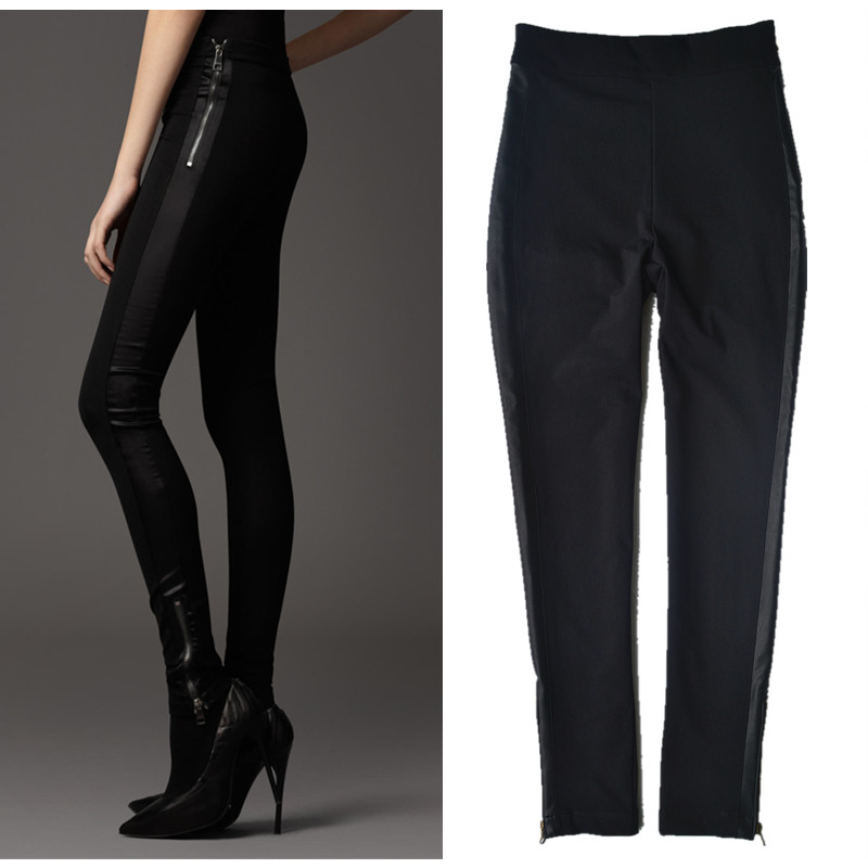 Longer Size Can fit 160cm -180cm height slim pants 2018 new Fashion brand England style with velvet elastic pencil trousers WQ14