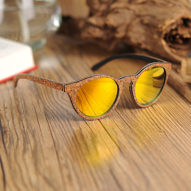 BOBO BIRD Women Sunglasses Polarized Colorful Wooden Frame Fashionable Vintage Glasses For Gift oculos de sol feminino AG019