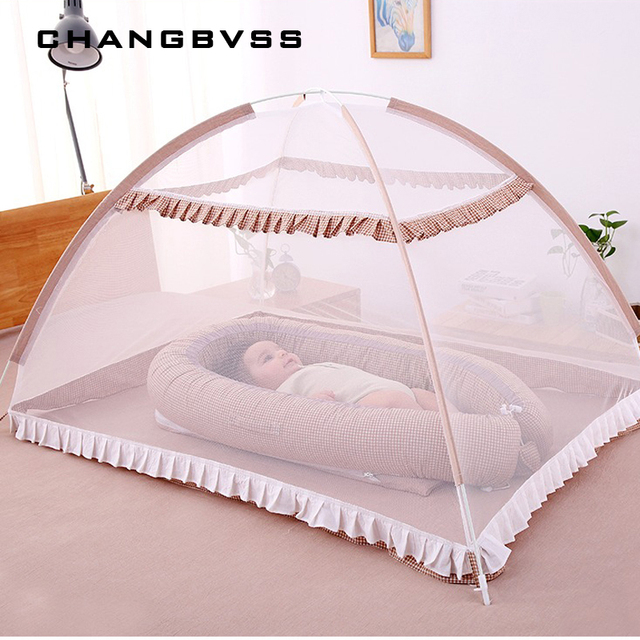 Baby Bed Canopy without Bottom Portable Folding Baby Bed Mosquito Net Children Mosquito Tent 65*115cm Kids Outdoor Camping Tent