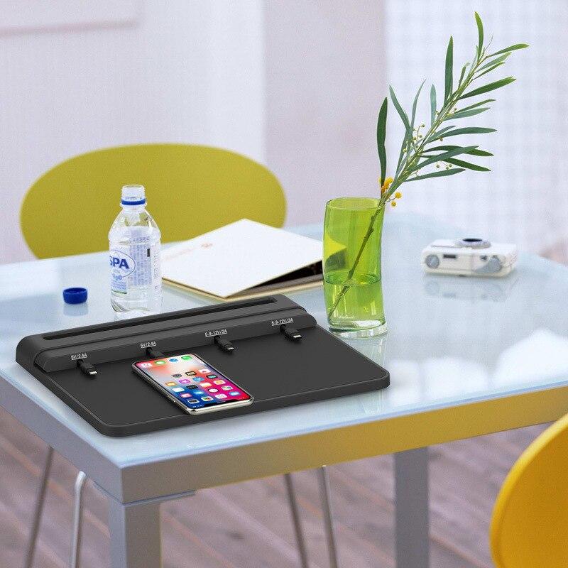 Caricabatteria da tavolo, telefono mobile di ricarica pad, stazione di ricarica del telefono mobile universale