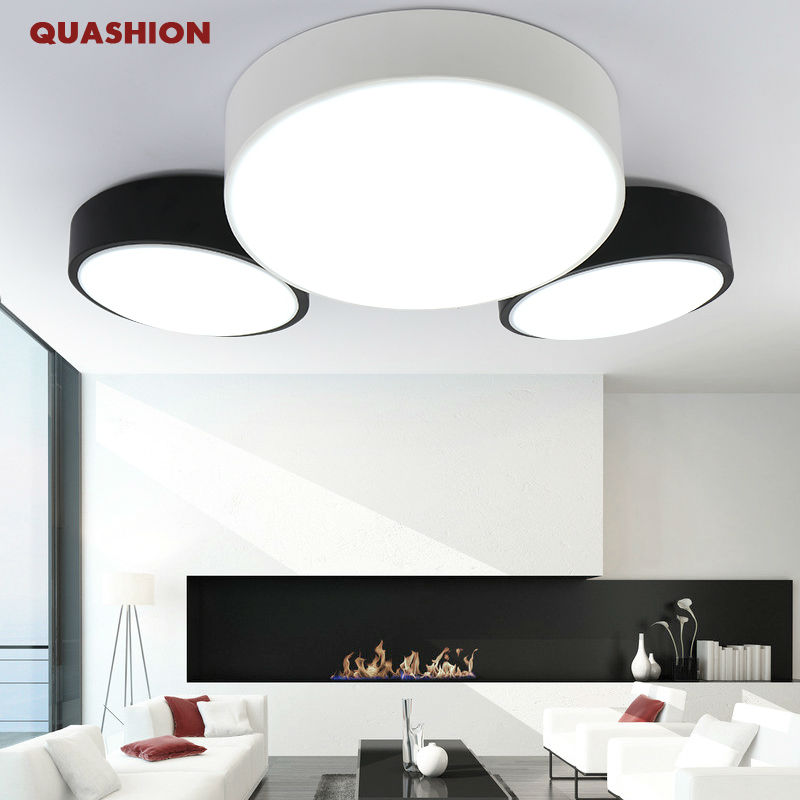 Modern DIY minimalist LED ceiling lamp round bedroom lamp living room lamp creative personality study dining room balcony lamp modern minimalism led ceiling light square indoor down light ceiling lamp creative personality study dining room balcony lamp