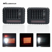 MALUOKASA 2PCs LED SUV Stop Light Tail Brake Lamp For Jeep JK Wrangler 07 2017 Auto