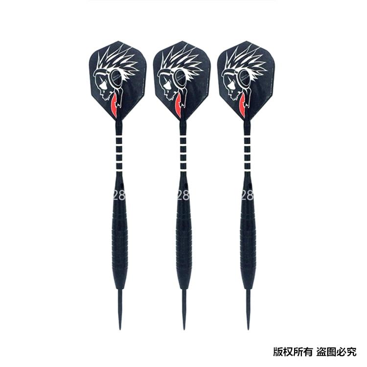 High Quality 22g Black Body Steel Tip Nylon Shaft Darts Set 3 Pieces Dart ; 2BA Thread