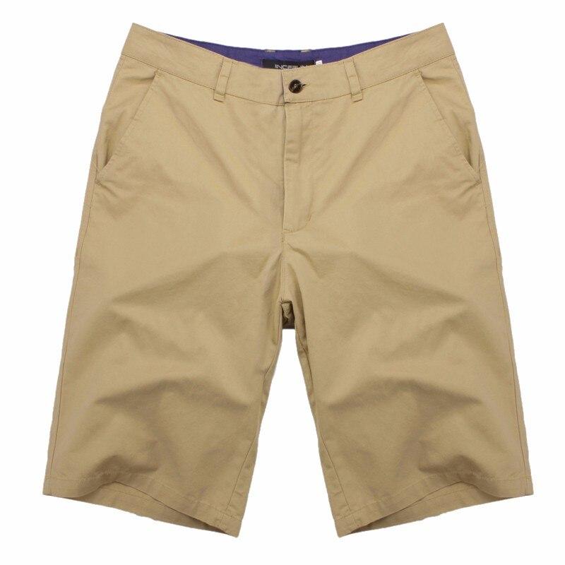 2019 Casual Summer Shorts Men Cotton Knee Length Chinos Shorts Vintage Casual Men Shorts Bermuda Masculina Big Large Size 44