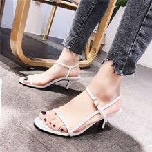 Women Sandals Summer High Heels 2019 New Women Shoes Open Toe Female Shoes Buckle Women Sandals Casual Fine Heel Footwear недорго, оригинальная цена