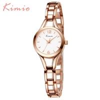 KIMIO Simple Watches Women Rose Gold Watch Women Fashion Clock Ladies Elegant Bracelet Watch Womens Quartz