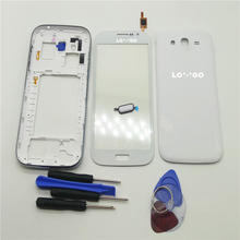Complete Full Housing Case for Samsung Galaxy Grand Duos GT-i9082 i9082 middle frame bezel +Back cover+touch screen+Tools+Button