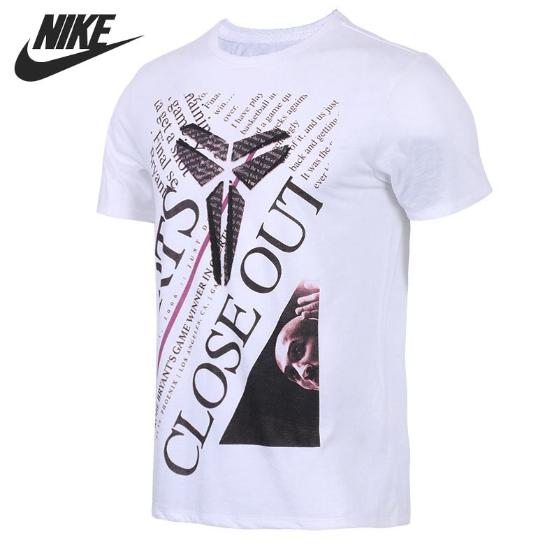 Original New Arrival 2018 NIKE DRY TEE Men's T-shirts short sleeve Sportswear patchwork short sleeve henley tee