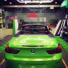 Стайлинга автомобилей Обёрточная бумага Алмазный блеск зеленый автомобиль виниловой пленки Средства ухода за кожей Стикеры автомобиля Обёрточная бумага с бесплатным пузырька воздуха для vehiche1.52* 20 м/roll