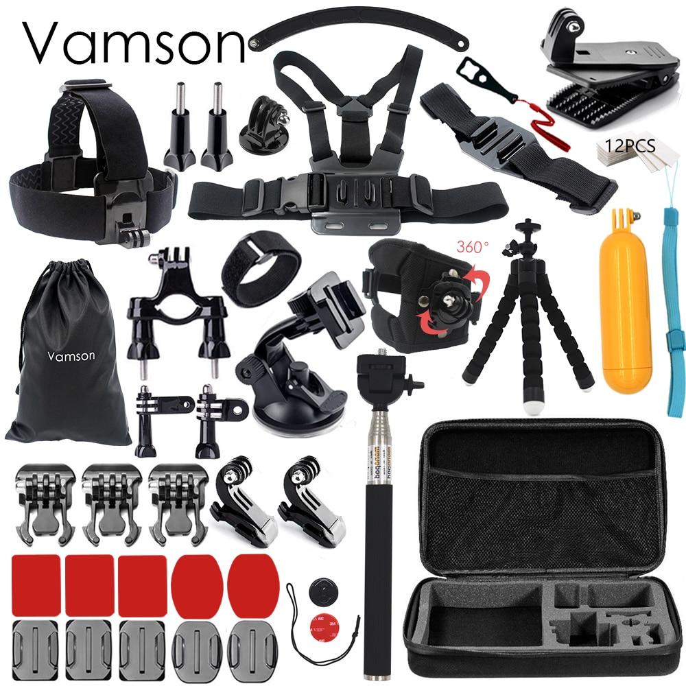 Vamson for Gopro Hero 6 5 Accessories Selfie Stick For Xiaomi yi for SJCAM SJ4000 EKEN/SOOCOO VS27