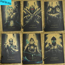 League of Legends C gather Home Furnishing decoration Kraft Game Poster Drawing core Wall stickers