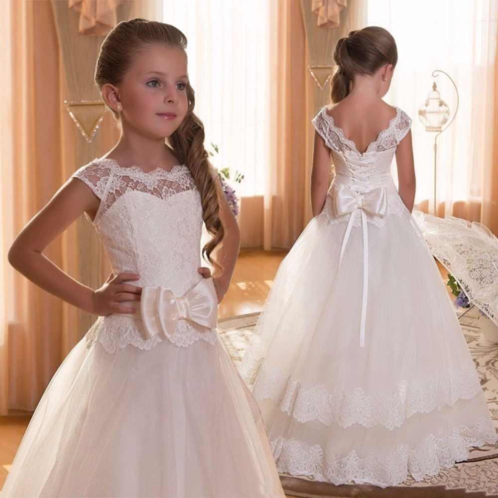 a8b35792407 Детское Элегантное свадебное платье подружки невесты с цветочным узором для  девочек