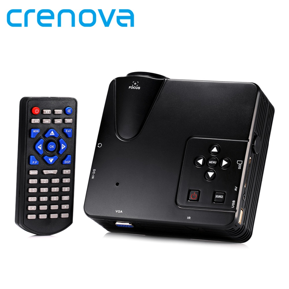 crenova h80 portable mini led lcd hometheater game projector support pc laptop full hd 1080p. Black Bedroom Furniture Sets. Home Design Ideas