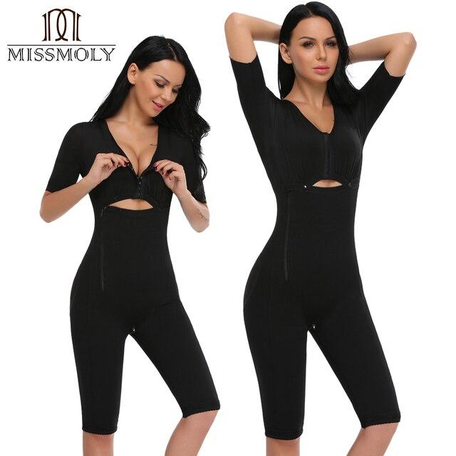 Miss Moly Full Body Bum Waist Leg Bust Waist Trainer Slim Shaper Underwear Seamless Butt Lifter Fajas Bodysuit Black S-3XL