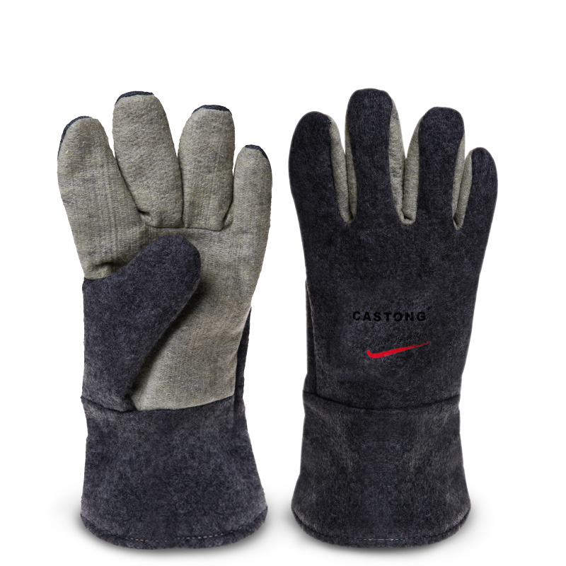 Safety Gloves High Temperature Protective Gloves 300 Degrees Insulation 34CM Heat Resistant Gloves For Bakery Kitchen