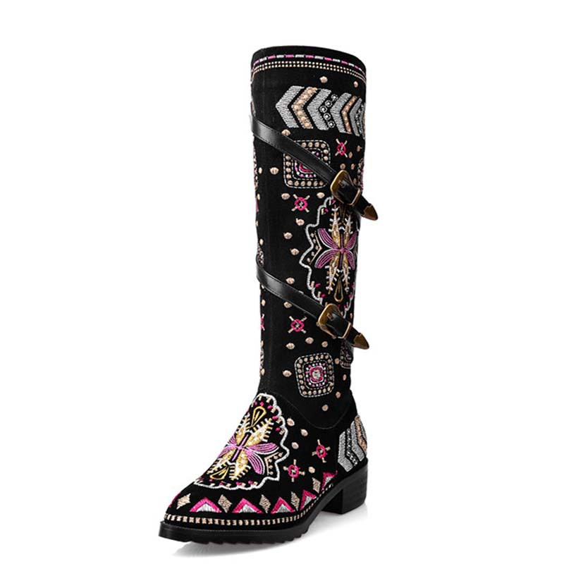 New Fashion Shoes Boots for Women Genuine Leather Motorcycle Boots Round Toe Casual Autumn Winter Women Knee High Boots nayiduyun new fashion thigh high boots women genuine leather round toe knee high boots high heel party pumps casual shoes