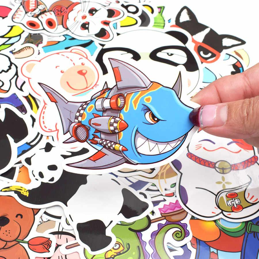 50pcs animal series sticker anime funny cartoon childrens stickers for kid diy laptop luggage bike fridge