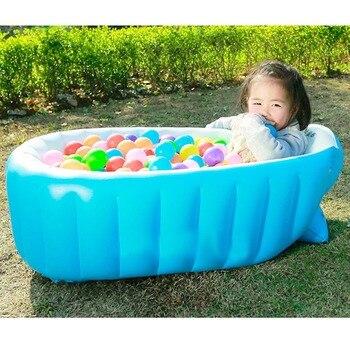 Aufblasbare Badewanne Baby Badewanne Kissen Sicherheit Badewanne Für Neugeborenen Schwimmbad Starke Tragbare Dusche Badewanne Luftpumpe Freies Geschenk