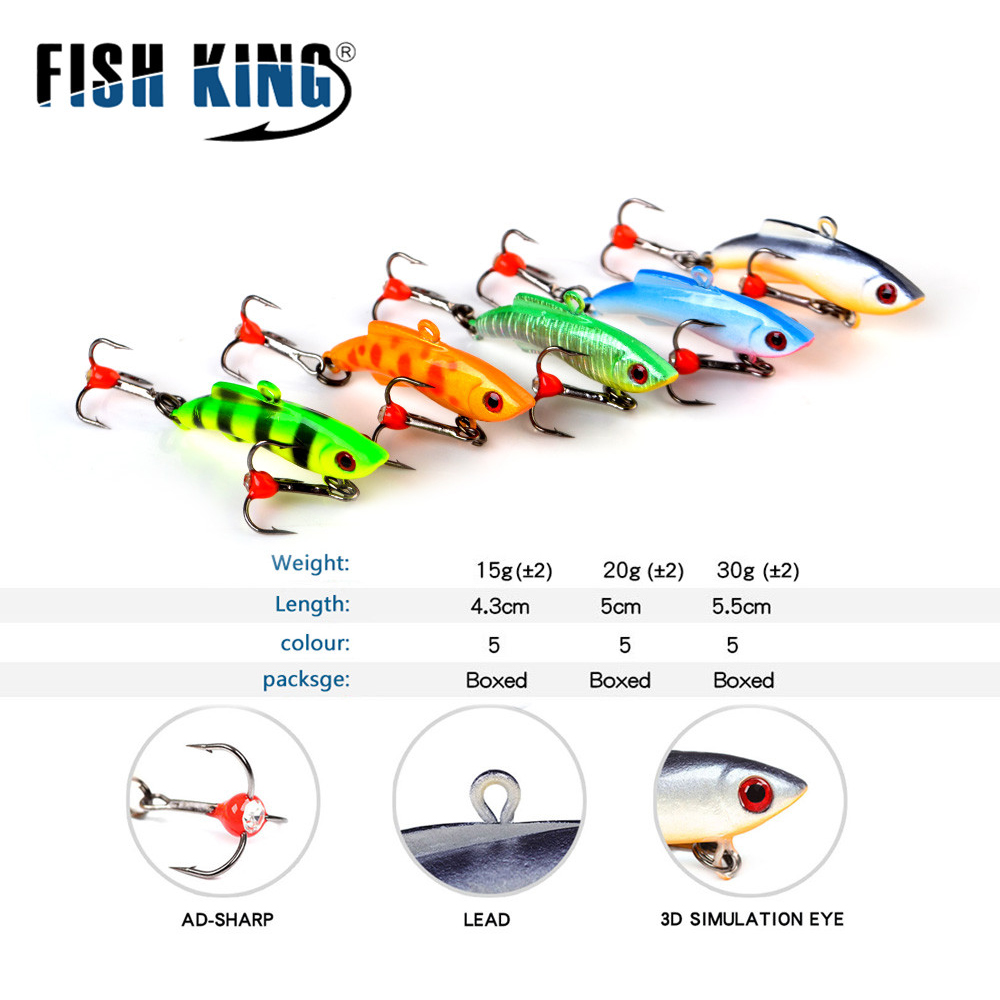 US $2 59 |FISHKING 1PC Ice Fishing Lures Walleye Jigs Winter Bait Hard Lure  Balancer for Fishing Baits Lead Jigging Fishing Tackle 30-in Fishing Lures