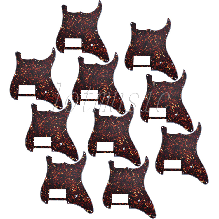 10Pcs Brown Tortoise Shell Electric Guitar Pickguard For Electricr Strat Style Replacement 4Ply musiclily 3ply pvc outline pickguard for fenderstrat st guitar custom