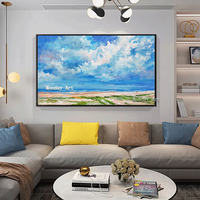 Landscape pictures Sunsets Natural Sea Beach Landscape Posters pure Handpainted Canvas Painting Wall Art Picture for Living Room