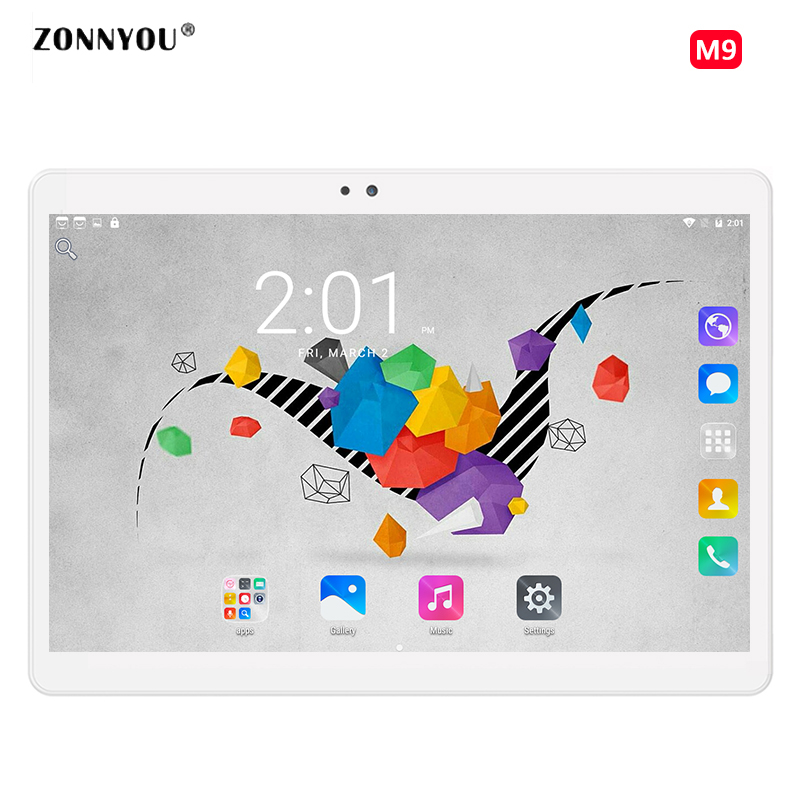 10.1 Pouce Tablet Android 6.0 D'origine 3G Appel Téléphonique Octa Core tablet pc 32 GB ROM 4 GB RAM WiFi FM Bluetooth Belle Comprimés 9.6