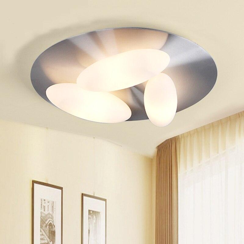 Modern ceiling lights glass egg design 5 heads living room bedroom aluminum kitchen lamp luces del techo ceiling lighting