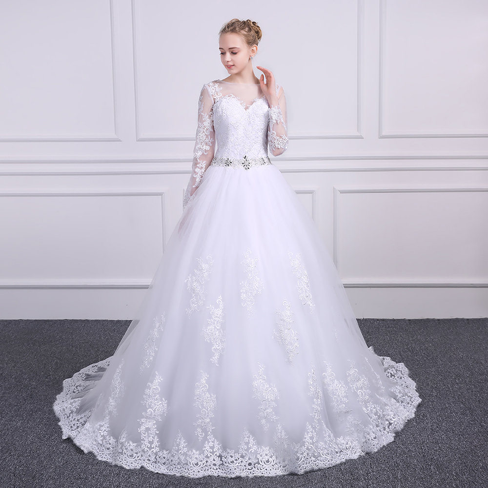 Robe De Mariage Long Sleeves Cheap Wedding Dresses 2019