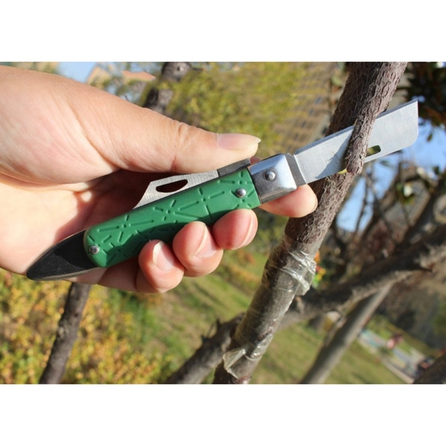 Multifunctional Folding Seedling Orchards Grafting Knife Inoculation Garden Lightweight High Carbon Steel Material Cutting Tool