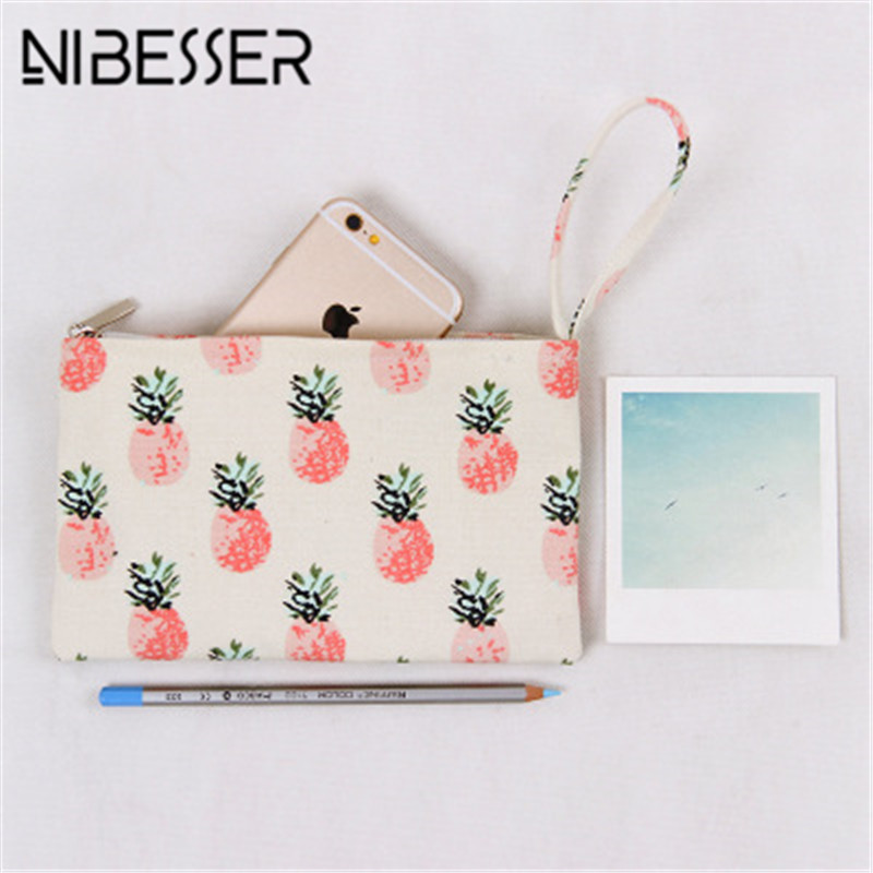 NIBESSER Pineapple Print Women Coin Purse Fashion Girls Purse Sweet Money Bag Change Pouch Lady Money Holder Minimalist Wallet thinkthendo 3 color retro women lady purse zipper small wallet coin key holder case pouch bag new design