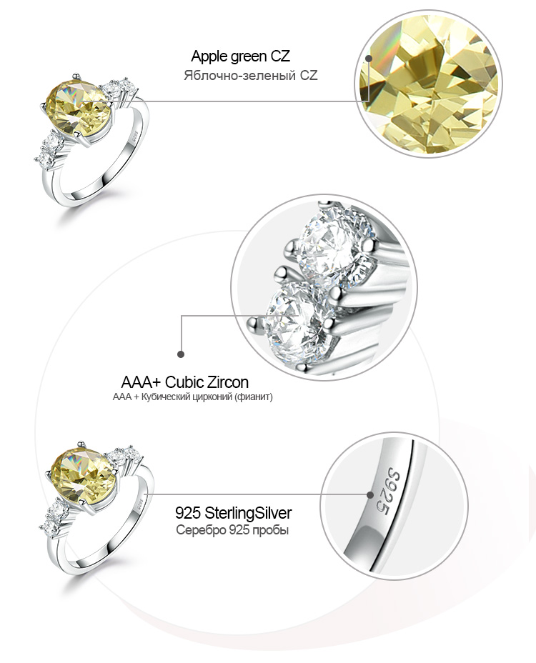 Honyy Apple Green 925 sterling silver earring for women RUJ093Z-1-app (7)