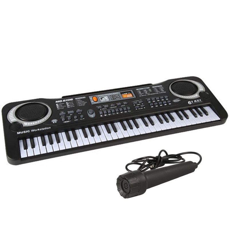 New Children 61 Keys With Microphone, Electronic Organ, Musical Instrument Music Piano Toy GiftNew Children 61 Keys With Microphone, Electronic Organ, Musical Instrument Music Piano Toy Gift