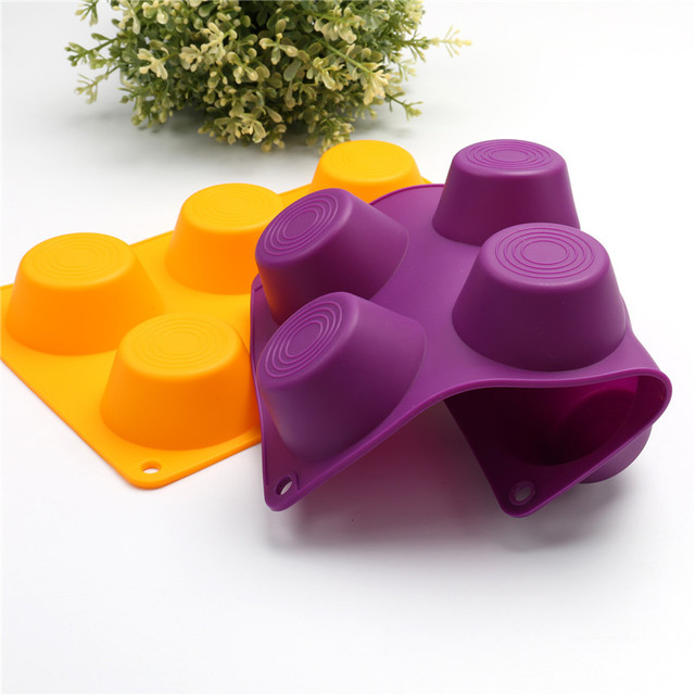 Muffin Puncakes Biscuit Pans 6 Cupcakes Silicone Mold Cups Mold Non Stick Tray Bakeware Baking Tools