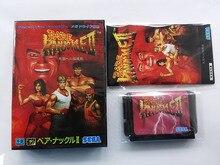 Md 게임: bare knuckle 2 (일본 버전!! 상자 + 수동 + 카트리지!!)