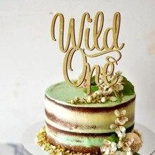 Primeiro feliz aniversário bolo topper, selvagem um aniversário festa bolo topper, para a criança como um presente, original bolo topper