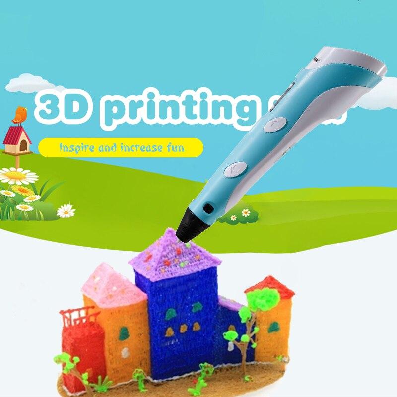 Myriwell 2nd 3D Pen Doodler Multi-Color PLA Filament (10color*5m) Paper Model 20 Pieces Low-Heat Making Doodle Arts & Crafts