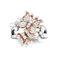 Rose Gold Butterfly Rings for Women Gold Filled Rings For Valentine's Day RJL171202010-6 1